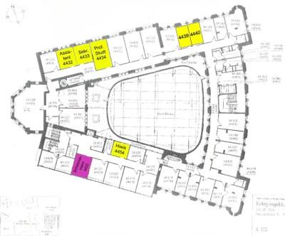 Lageplan Räume Lehrstuhl Studt KG IV